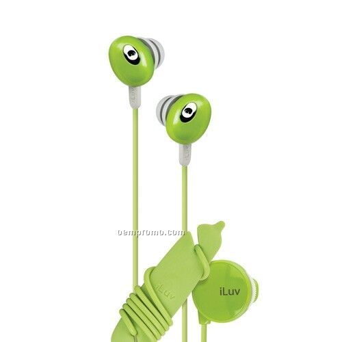 Iluv In-ear Stereo Earphone With Volume Control - Green