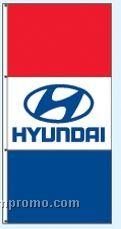 Single Face Dealer Interceptor Drape Flags - Hyundai
