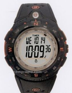 Timex Expedition Digital Compass Round Dial W/ Black/Orange