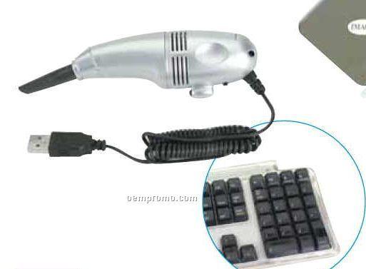 USB Mini Vacuum Cleaner With LED Light