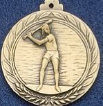 "1.5"" Stock Cast Medallion (Baseball/ Female)"