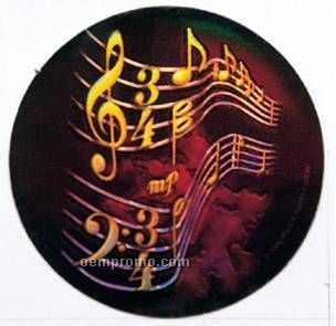 "Holographic Mylar - 2"" Music"
