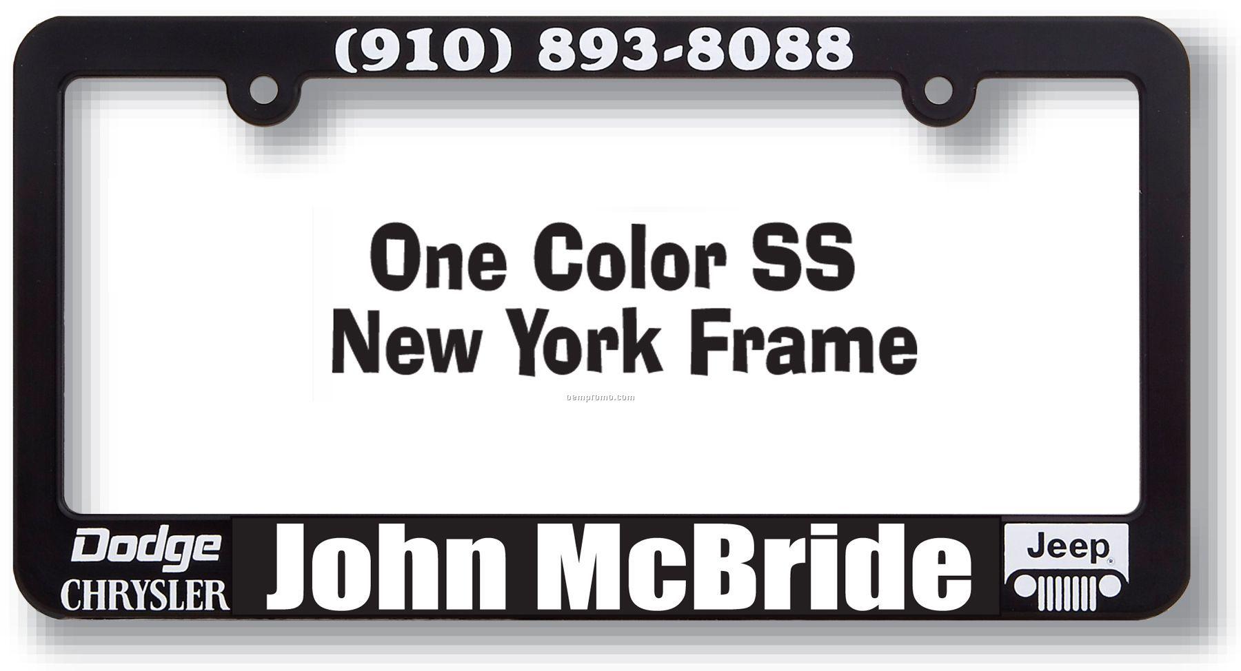 New York Plastic License Plate Frame,China Wholesale New York ...