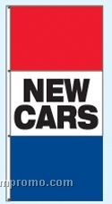 Single Face Stock Message Interceptor Drape Flags - New Cars