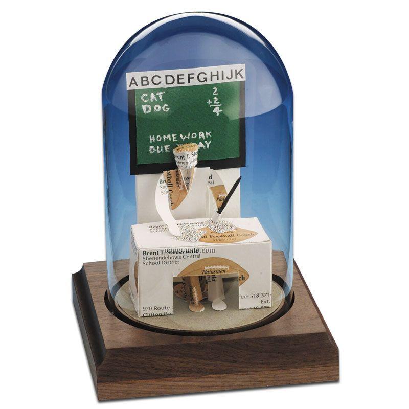 Stock Business Card Sculpture In A Dome - Teacher Male/Female