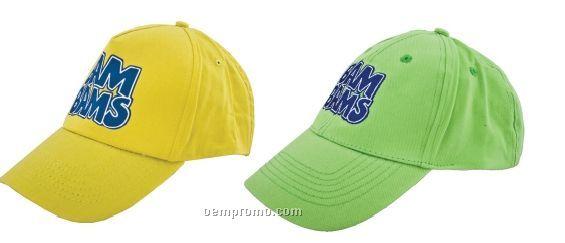 Baseball Caps W/5 Panel Cotton Twill Cap (Super Saver)