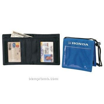 Bi Fold Neck Wallet And Badge Holder