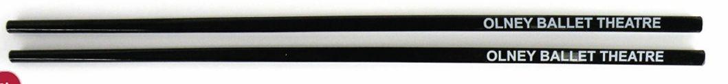 Black Plastic Chopsticks In Cello Wrapper