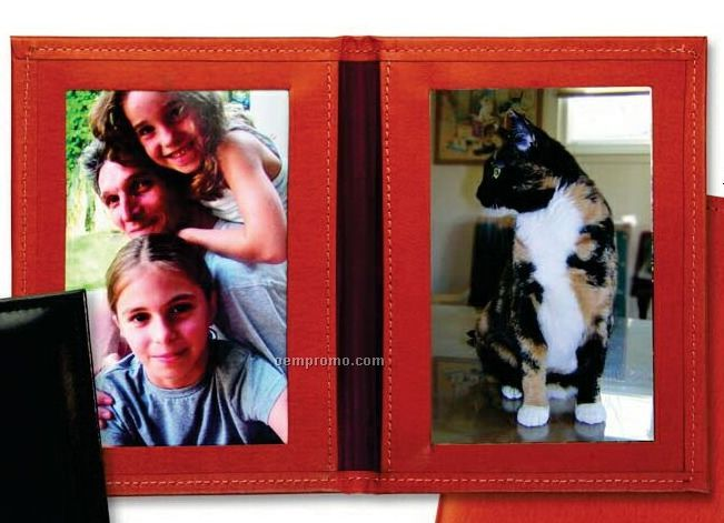 Luxury Leather Photo Frame/ Vertical - Oxford Bonded Leather