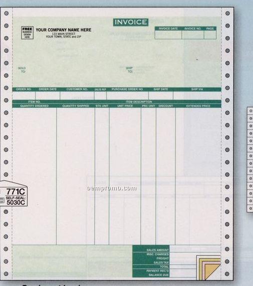 Parchment Invoice W/ 7 Columns (3 Part)