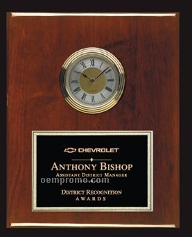 Rosewood Piano Finish Clock Plaque - Medium