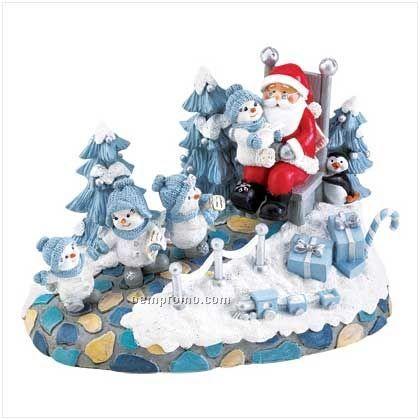 Snow Buddies Santa Visit Figurine