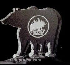 Standing Bear Acrylic Paperweight (Up To 12 Square Inch)