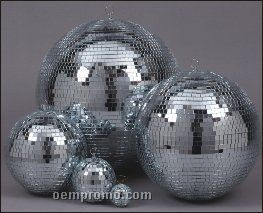 "8"" Silver Disc Ball,Mirror Ball"