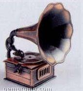Early American Bronze Metal Pencil Sharpener - Gramophone