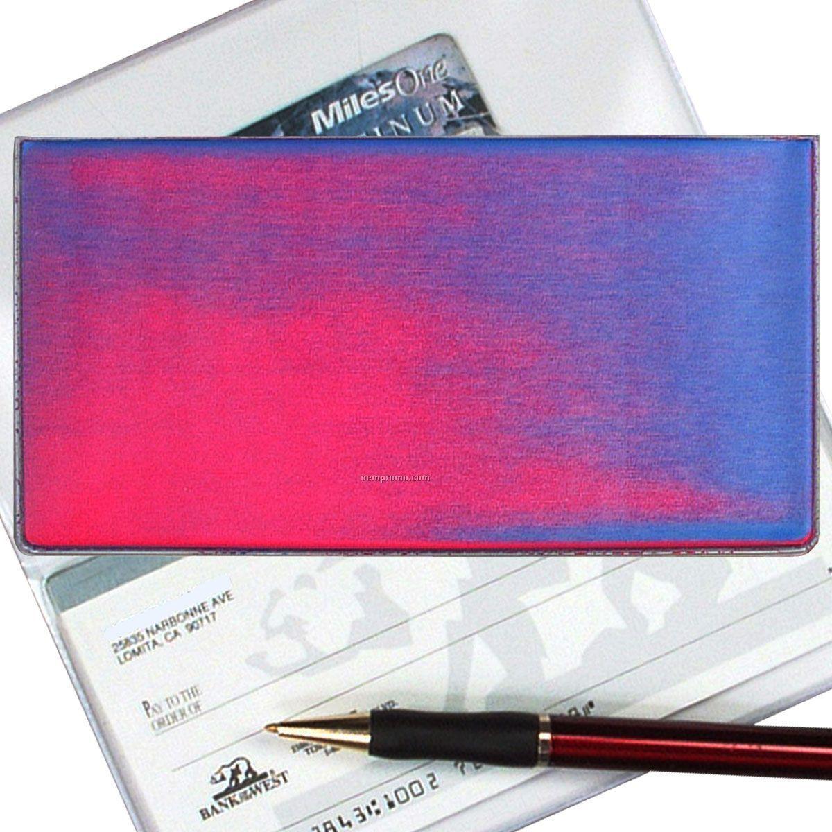 Pink/Purple/Blue 3d Lenticular Checkbook Cover (Stock)