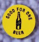 Round Stock Drink Token (Beer/ Beer Bottle)
