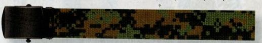 Woodland Digital Camouflage/ Olive Green Drab Reversible Military Web Belt