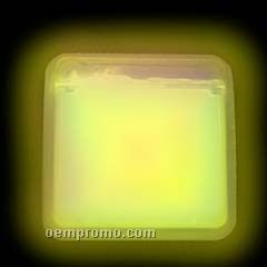 Yellow Square Glow Badge