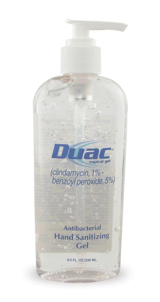 8 Oz. Moisturizing Antibacterial Gel Sanitizer In Tall Oval Bottle