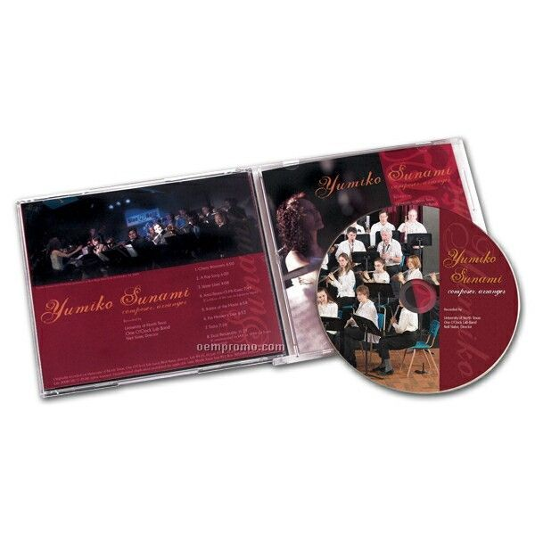 Replicated CD In Jewel Case W/ 2 Panel 4/1 Package