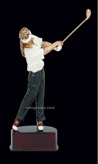 "Golfer, Female Action Color Figures - 8"""