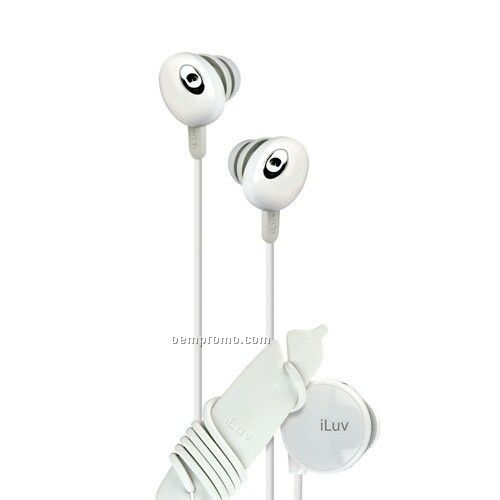 Iluv In-ear Stereo Earphone With Volume Control - White