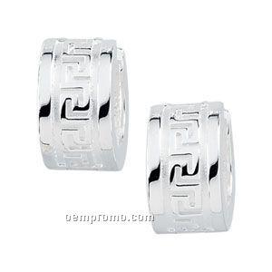Ladies' Stainless Steel 8-1/2mm Hinged Earring