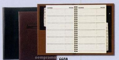 Large Bound Desk Book W/ Address Book