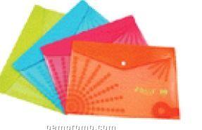Poly Envelope W/ Snap Closure And CD Holder Sunburst Design