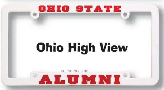 Ohio High View (Hv) Raised Copy Plastic License Plate Frame,China ...