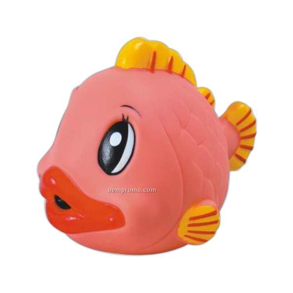 Rubber Gold Fish Toy