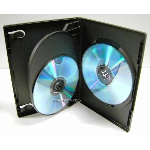 3-disc DVD Flip Tray Case - 14 Mm