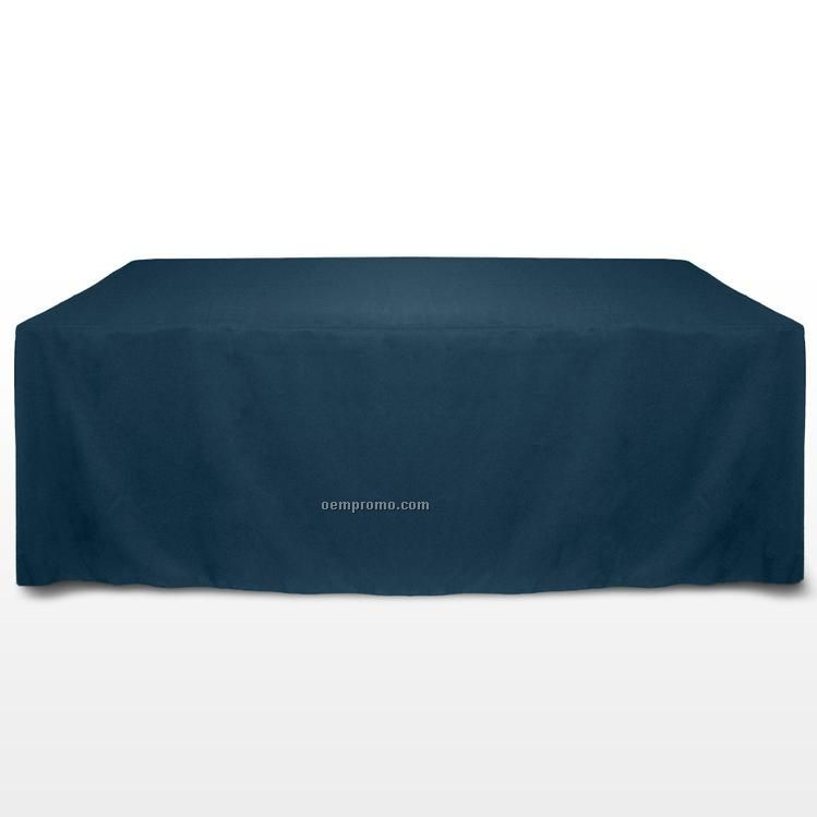 8' Solid Color Poly Poplin Table Throw - Wedgewood