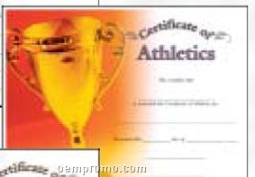 Athletics Certificate Award (Certificate Only)
