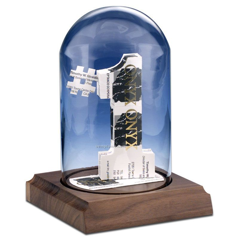 Stock Business Card Sculpture In A Dome - Number 1