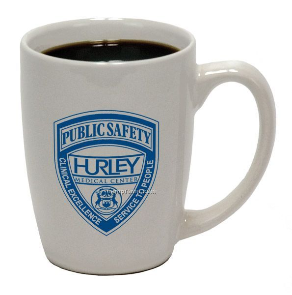 12 Oz. Ceramic Challenger Coffee Mug - White
