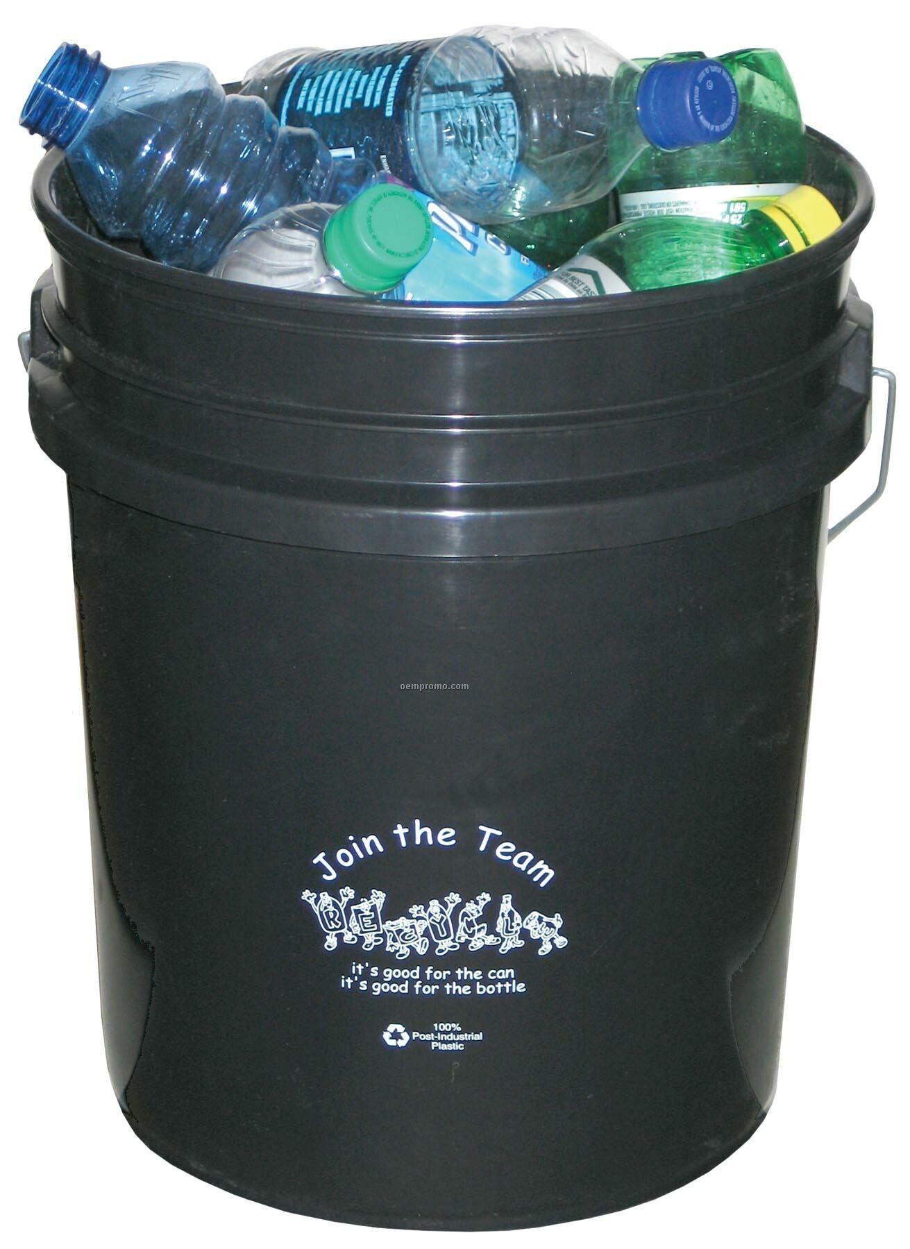 5 Recycled Gallon Bucket - Black