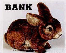 "9"" Flocked Rabbit Bank"