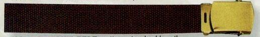 "Brown Web Belt (54"")"