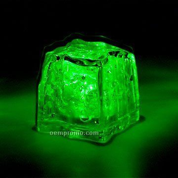 Green 3 Function Light Up Ice Cube