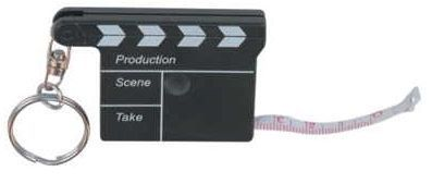 Movie Clapper Tape Measure W/ Keychain