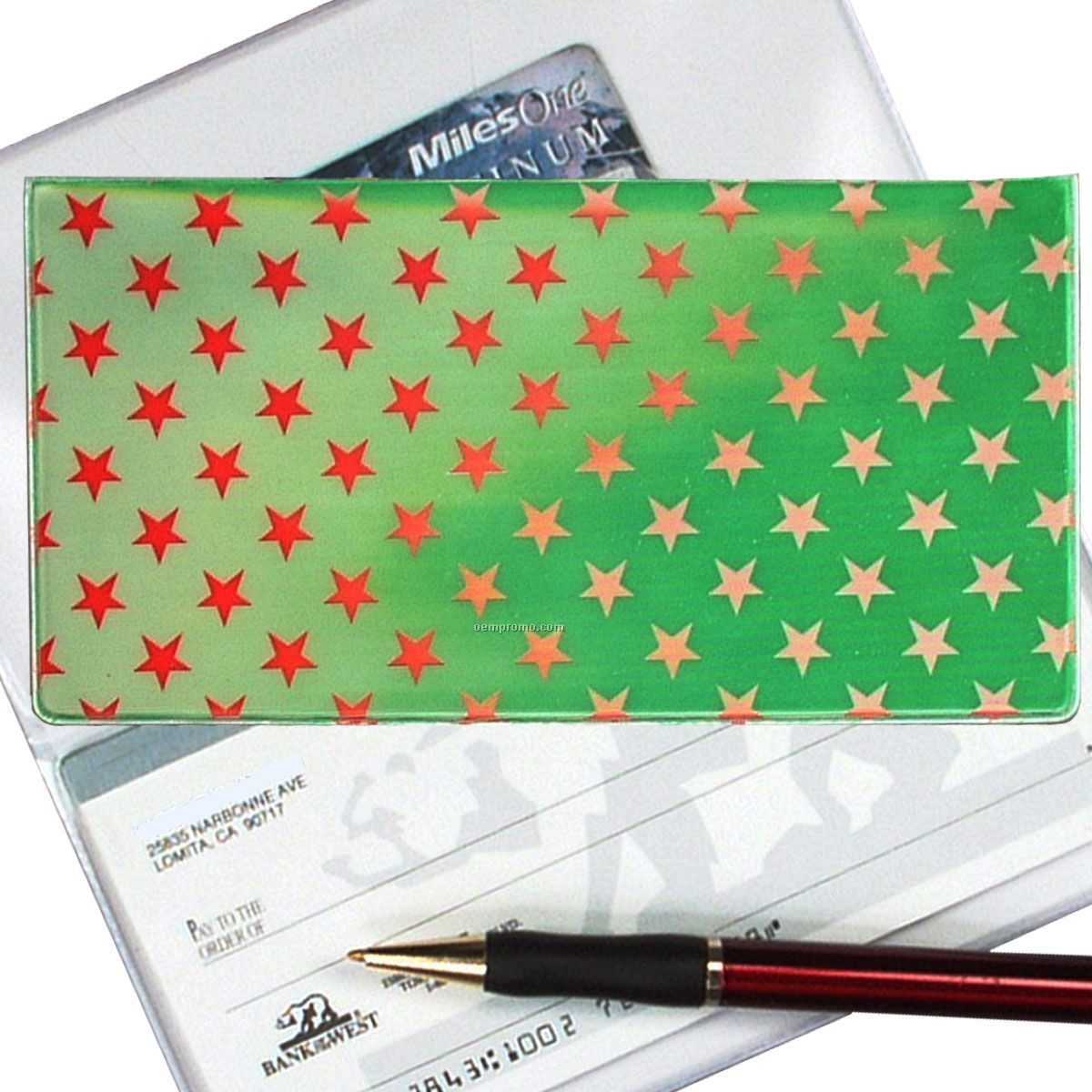 Stars 3d Lenticular Checkbook Cover (Stock)