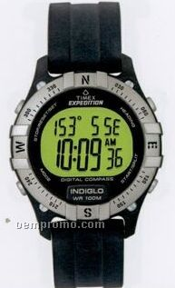 Timex Expedition Digital Compass W/ Silver Bezel