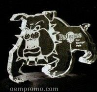 Snarling Bulldog Acrylic Paperweight (Up To 12 Square Inch)