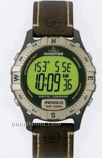 Timex Expedition Digital Watch W/Compass & Tan Bezel
