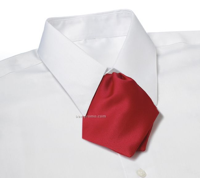 Wolfmark Polyester Satin Adjustable Band Tulip Bow Tie - Red