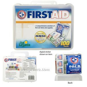 100 Piece First Aid Kit (23 Hour Service)