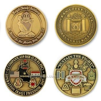 """2"""" Solid Brass Coin (No Color)"""
