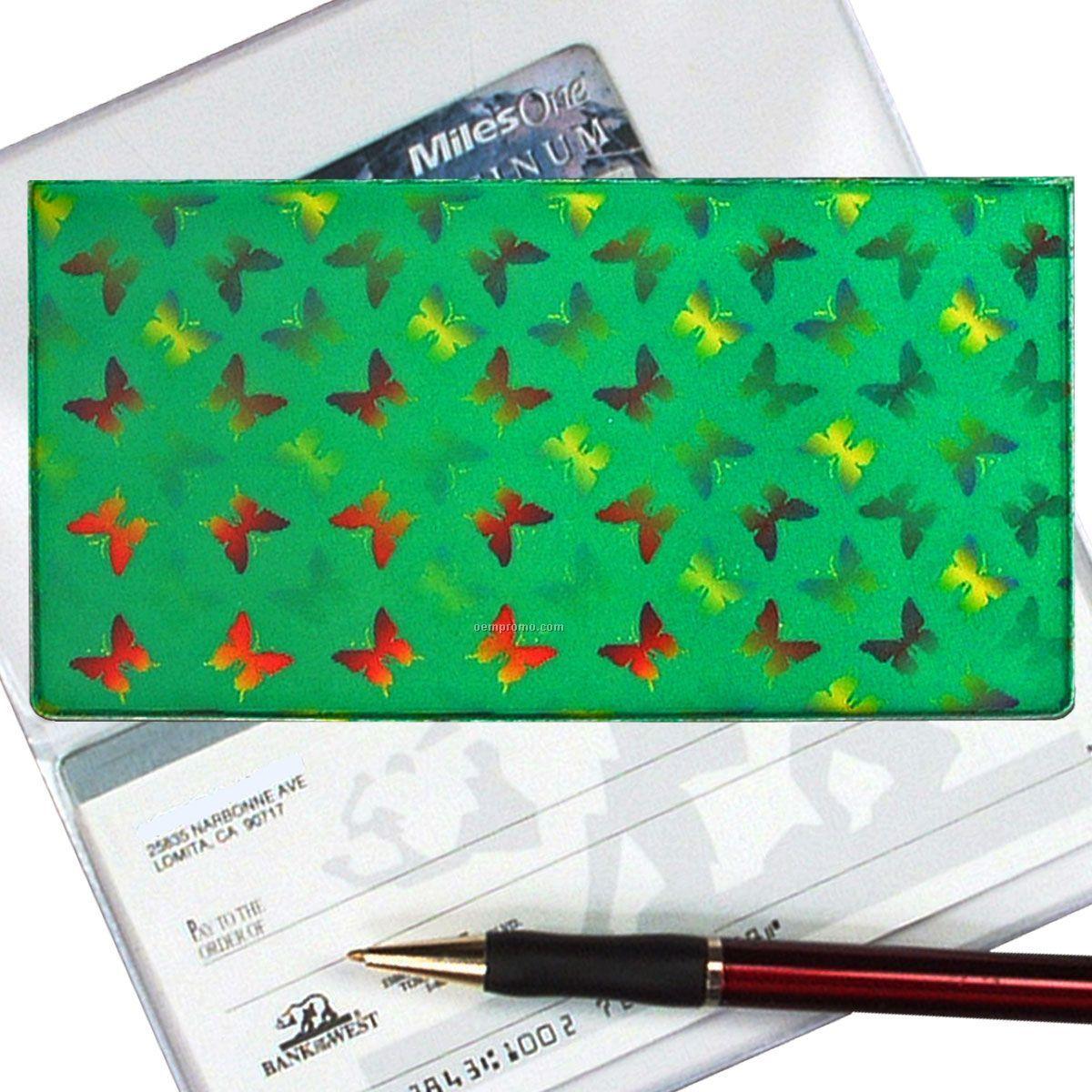 3d Lenticular Checkbook Cover ( Butterflies)